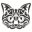 Tribal Kedi Sticker